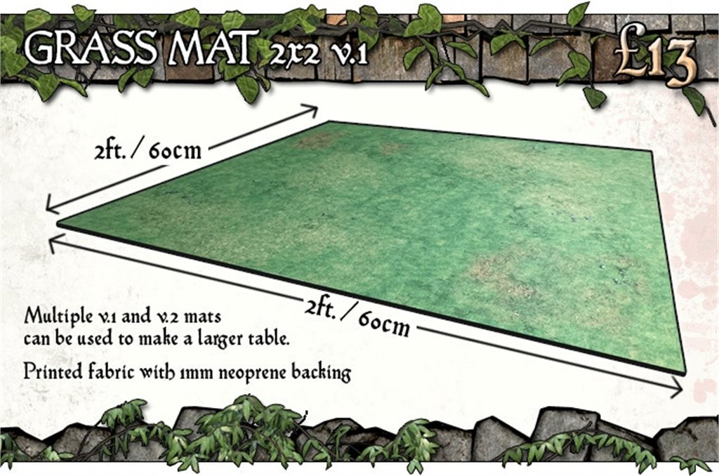 2x2 Grassy Fields Gaming Mat