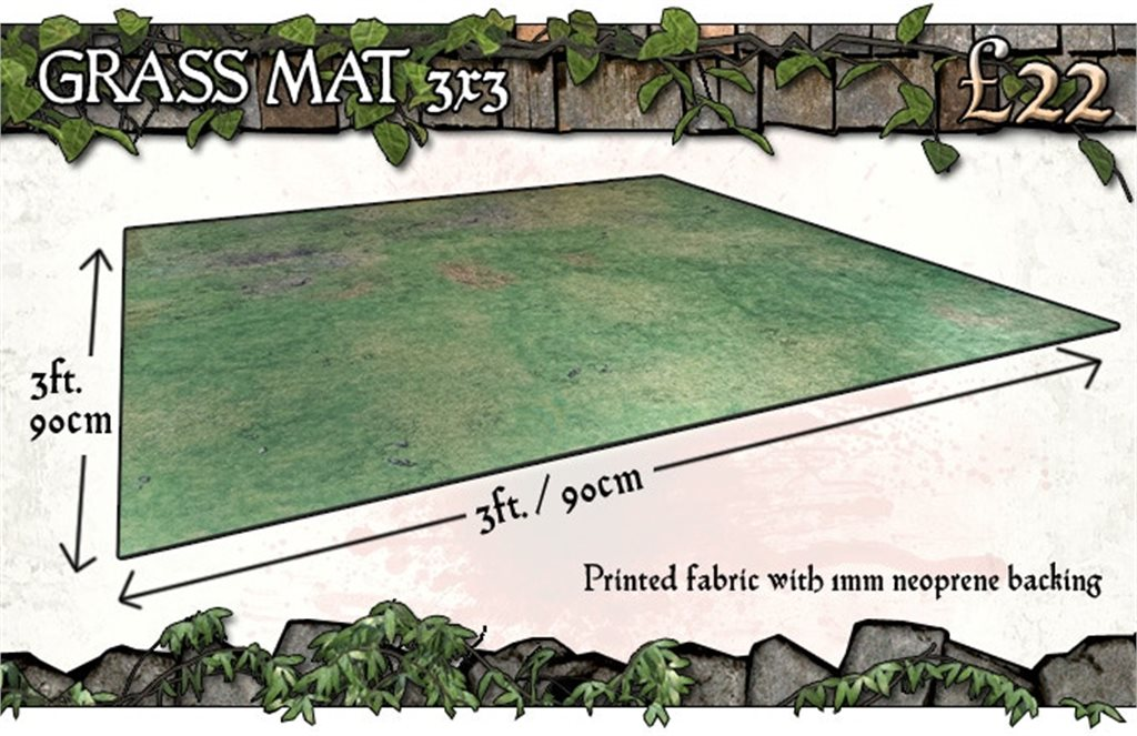 3x3 Grassy Fields Gaming Mat