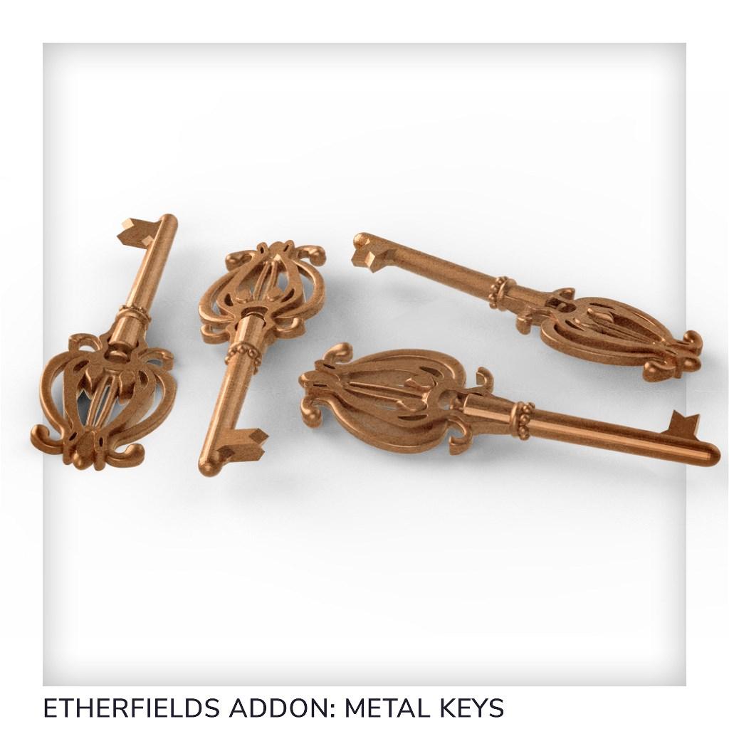 4 Metal Keys