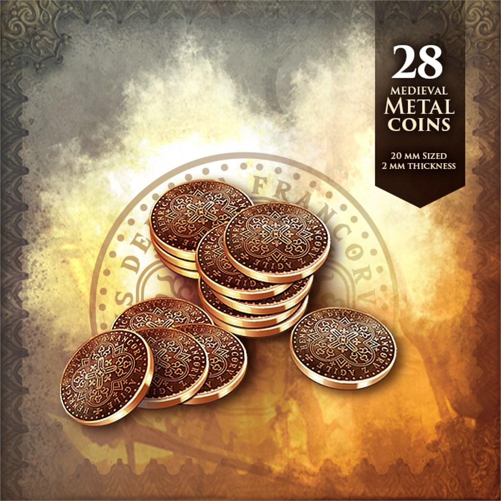 28 Medieval Metal Coins