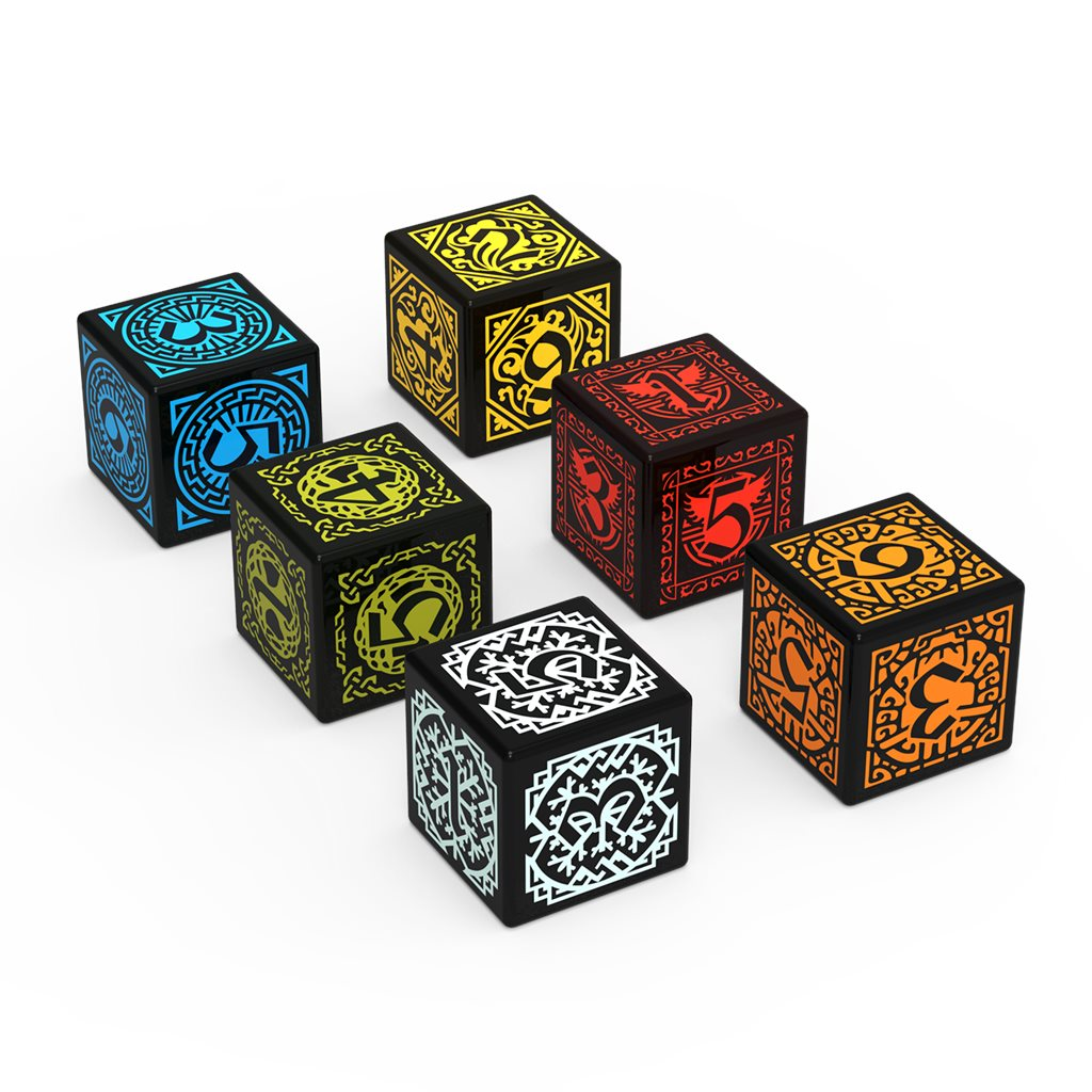 6 CUSTOM ENGRAVED DICE