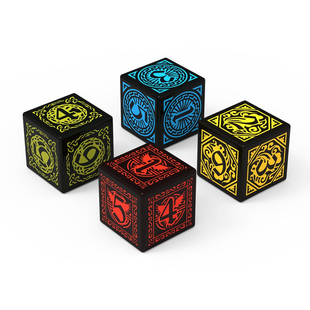 4 CUSTOM ENGRAVED DICE