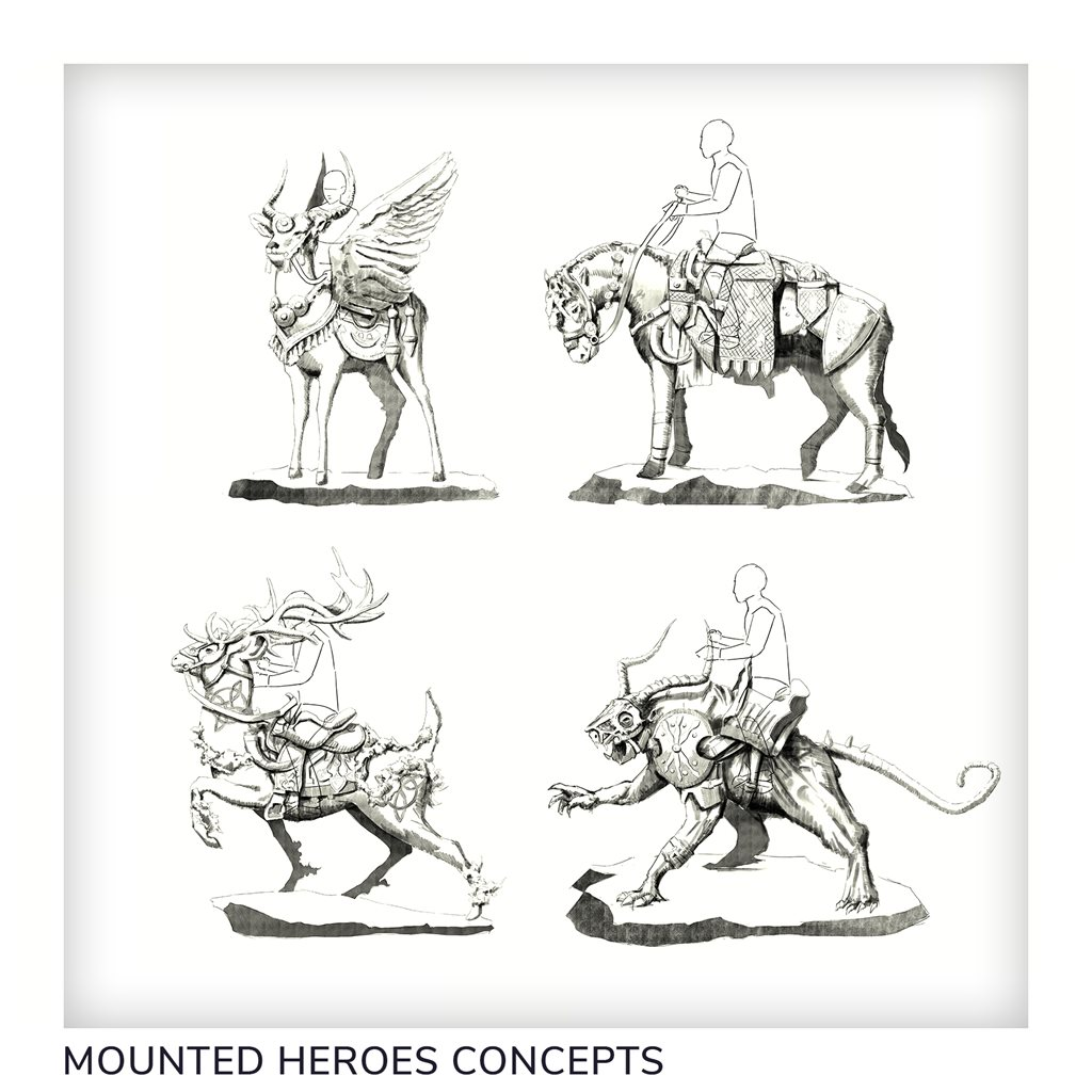 Mounted characters set