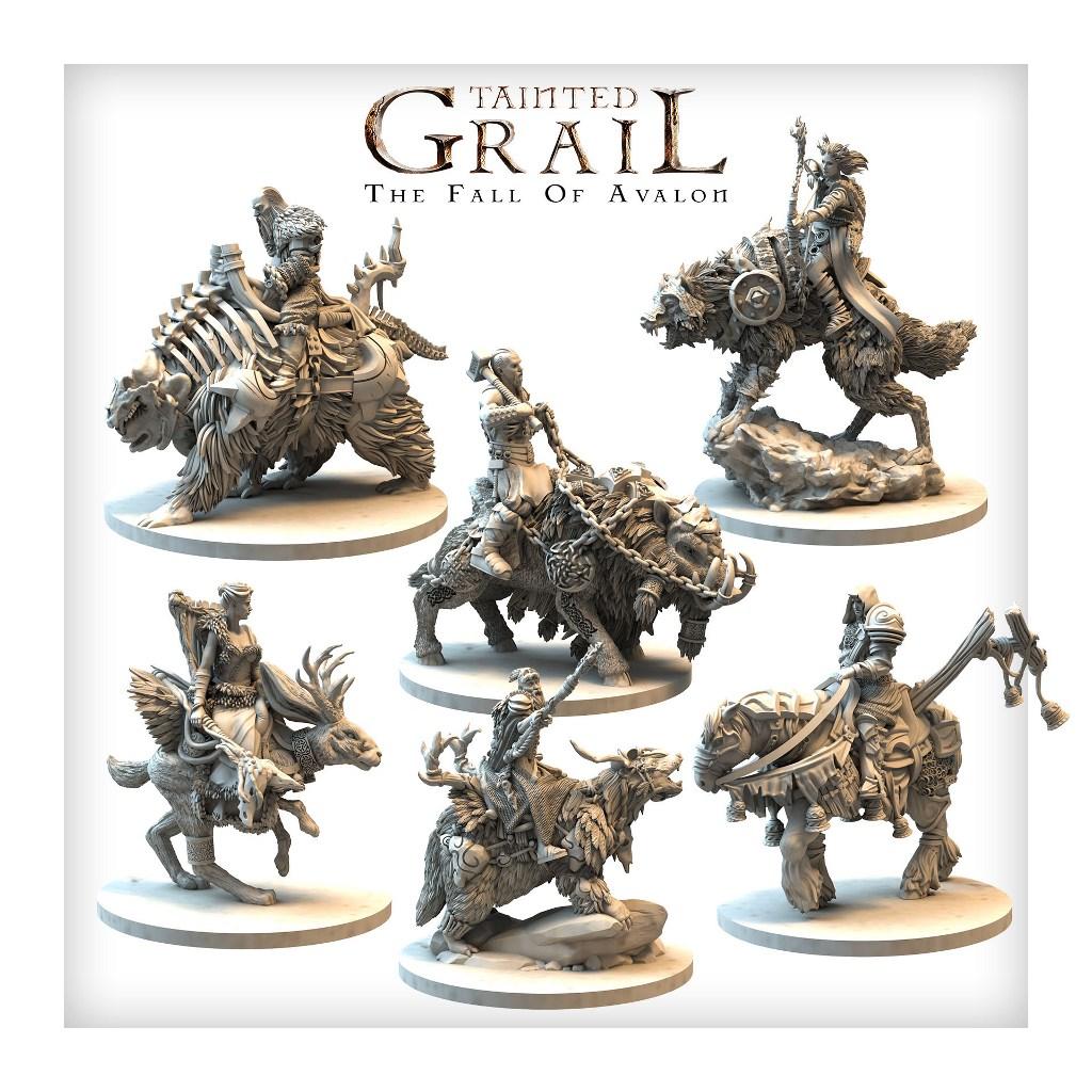 Mounted characters set