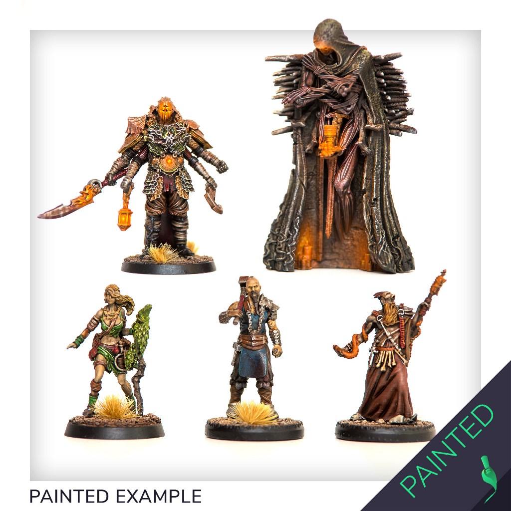 Painted Grail pledge models