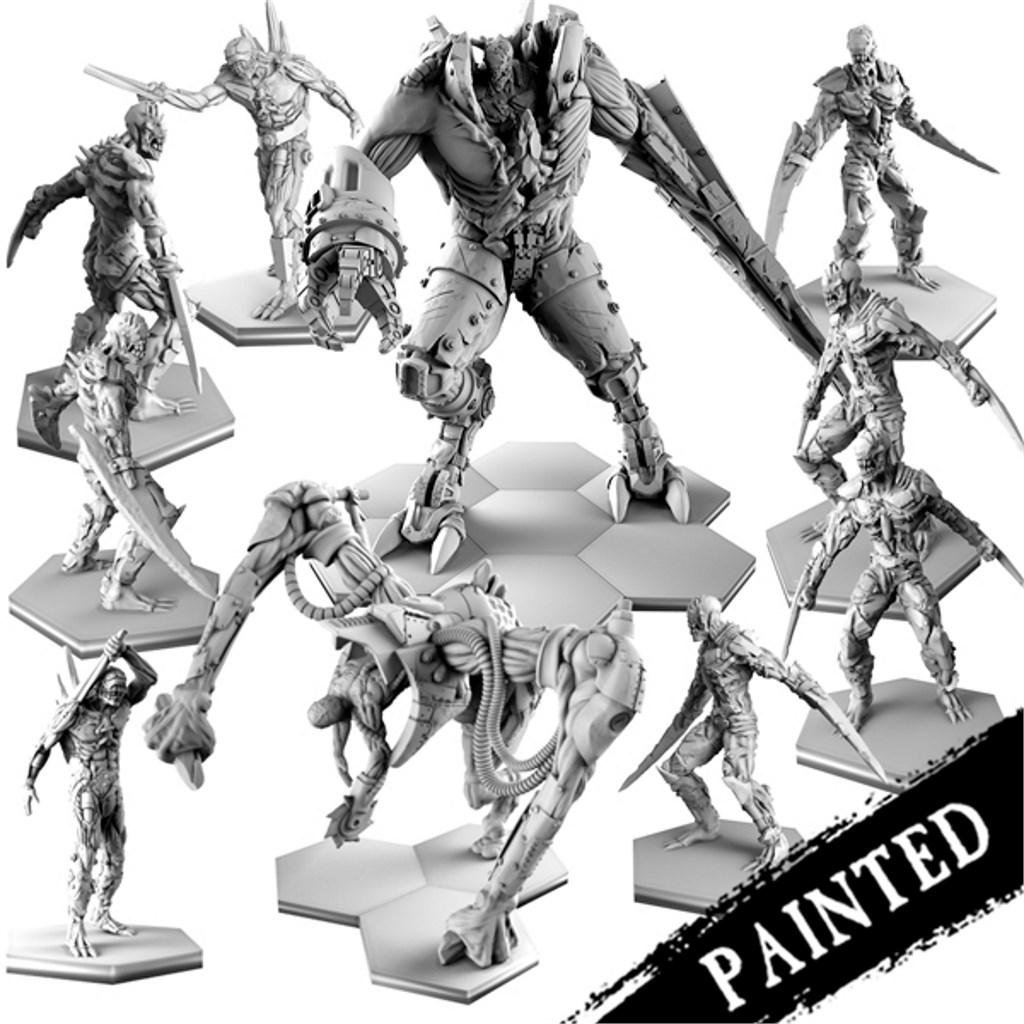 Painted faceless Faction Resin Bundle