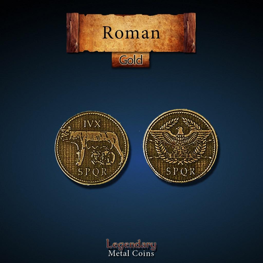 Legendary Metal Coins Season 4 by Drawlab - Roman Gold Coins