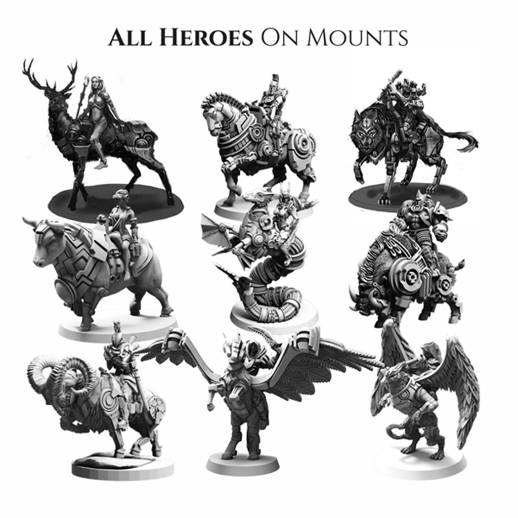 All mounted heroes
