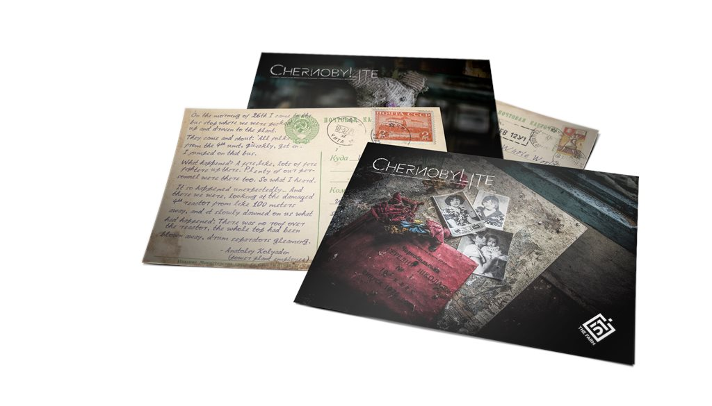 Printed Chernobylite Postcards