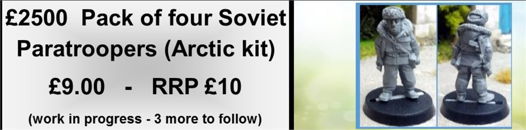 Soviet Paras in Arctic Kit 1 (pack of 4)