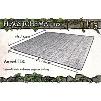 2x2 Flagstone Floor Gaming Mat