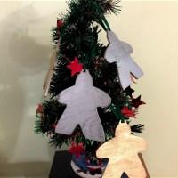 4 Meeple Ornaments