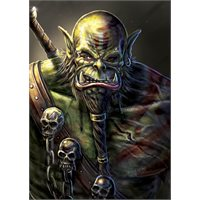 Signed Orc Warrior print