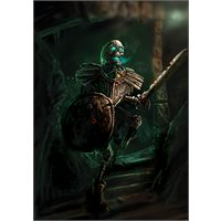 Signed Skeleton Warrior print