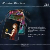 Three Premium Dice Bags