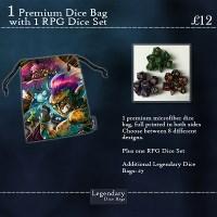 Premium Dice Bag and RPG Dice Set