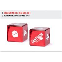 4 Metal Dice (2 Red and 2 Blue)
