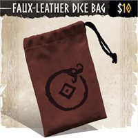 Faux-Leather Dice Bag