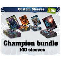 All four Champion art sleeves