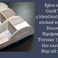 Igloo Shaped Card Tidy set of three