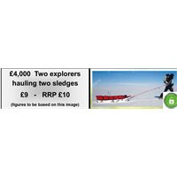 Explorers hauling sledges x 2