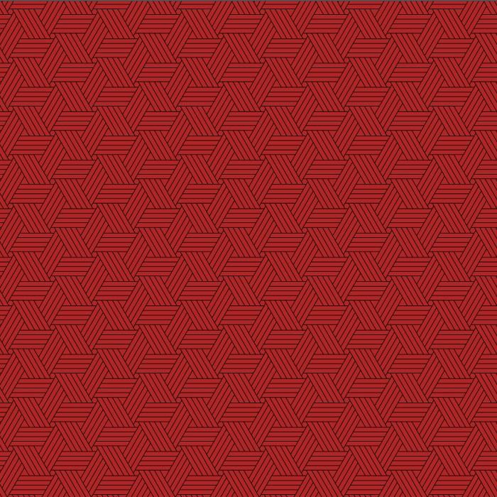 Tri-Pattern Red 92x183
