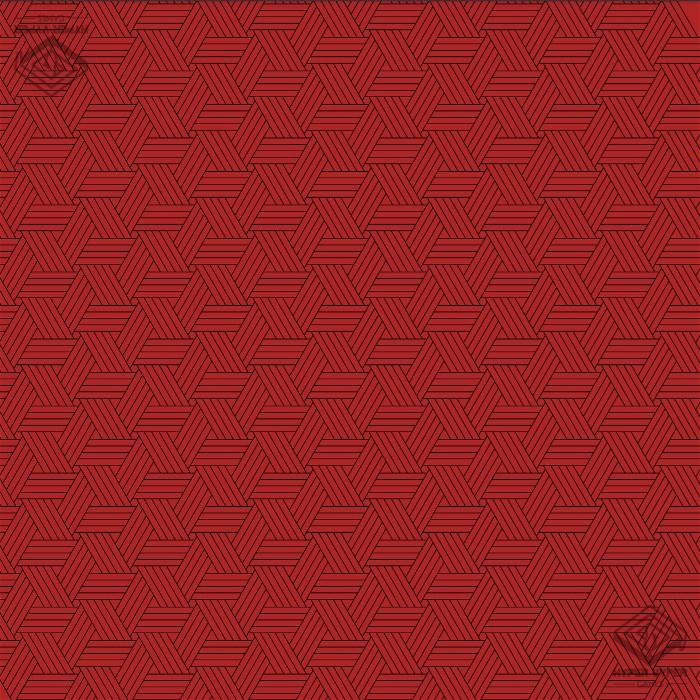 Tri-Pattern Red 90x90