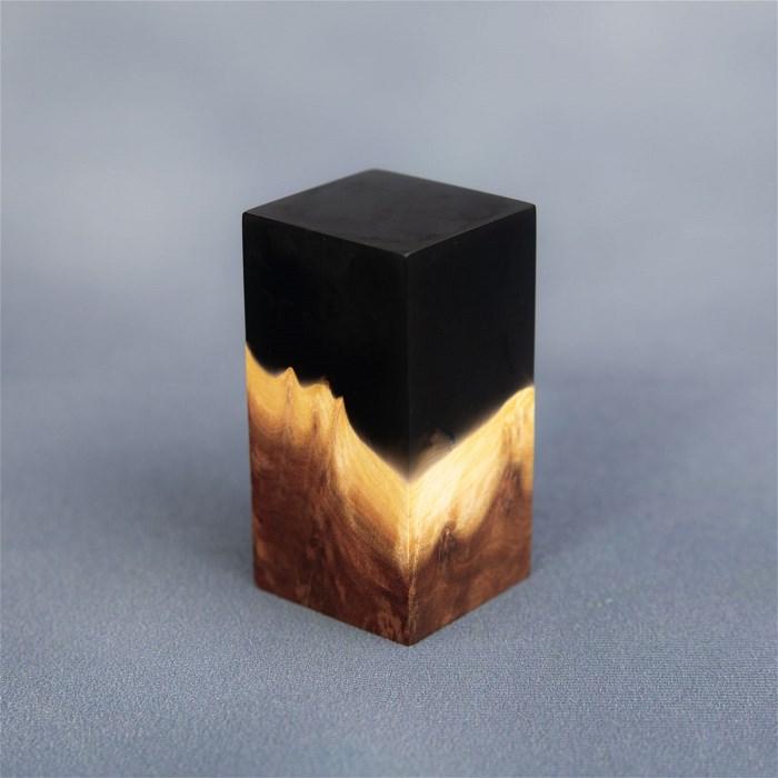 Black Resin/Oak Plinth