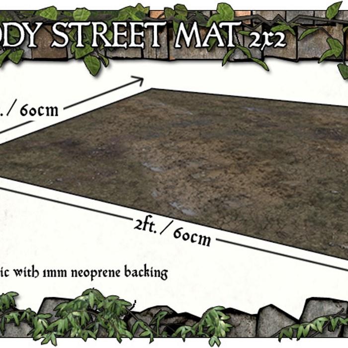 2x2 Muddy Streets Gaming Mat