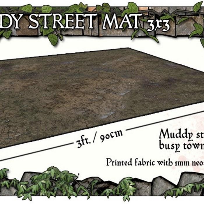 3x3 Muddy Streets Gaming Mat