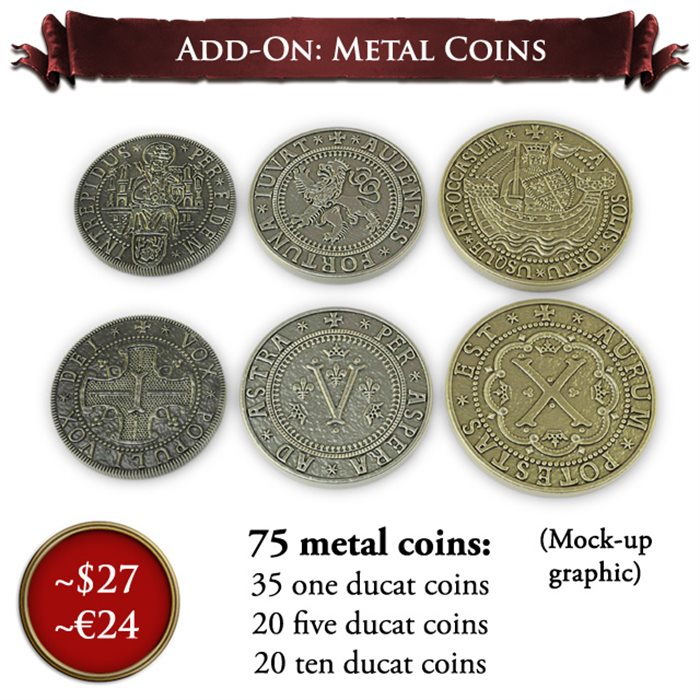 Metal Coins Add-on