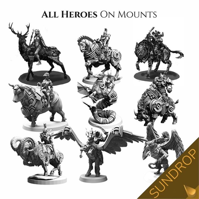 Lords of Hellas: Mounted heroes set (sundrop)