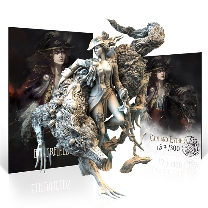 Resin She-Wolf