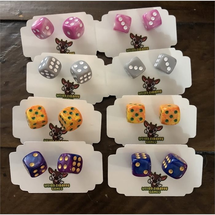 2 pairs of Dice Earrings