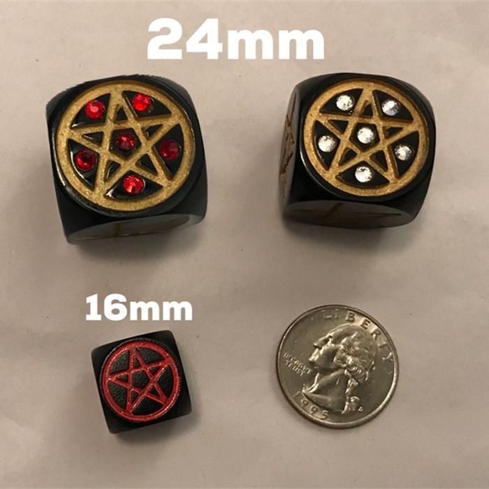 24mm Progressive Pentagram Die with Swarovski Crystals - LIMITED!