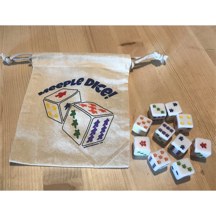 10 - D6 Dice with Dice Bag