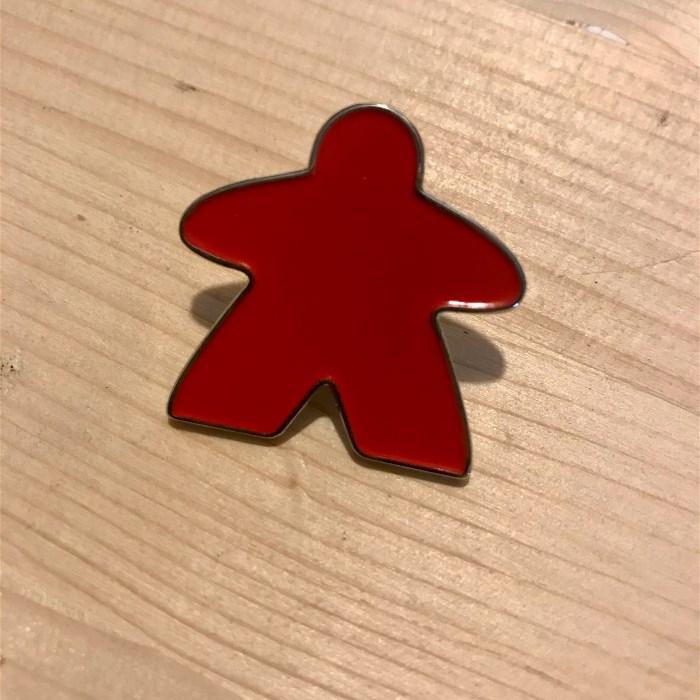 Enamel Meeple Pin - Red