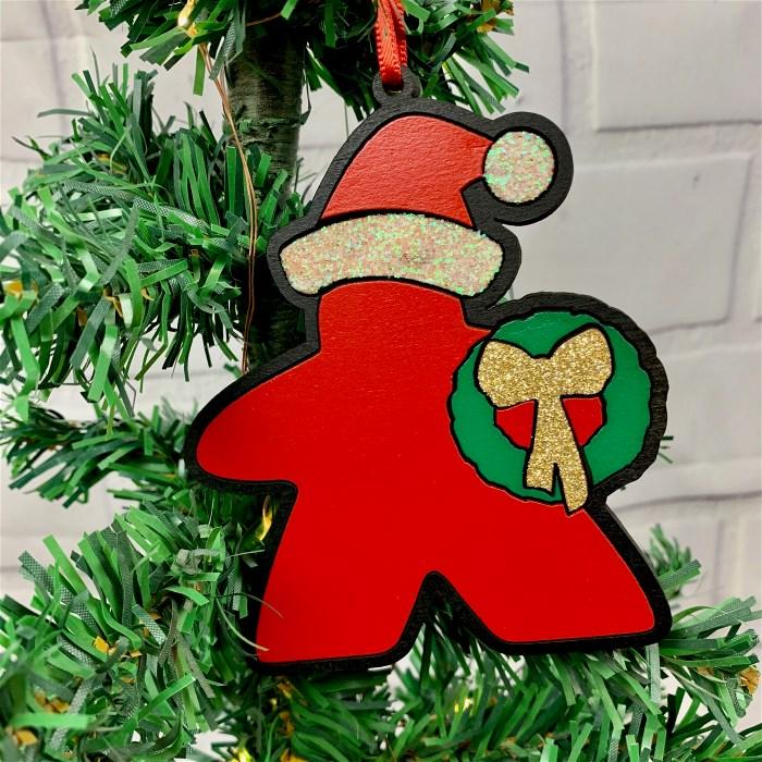 Meeple Santa Ornament