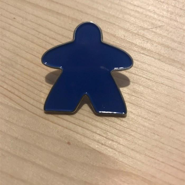Enamel Meeple Pin - Blue