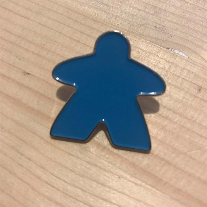Enamel Meeple Pin - Aqua