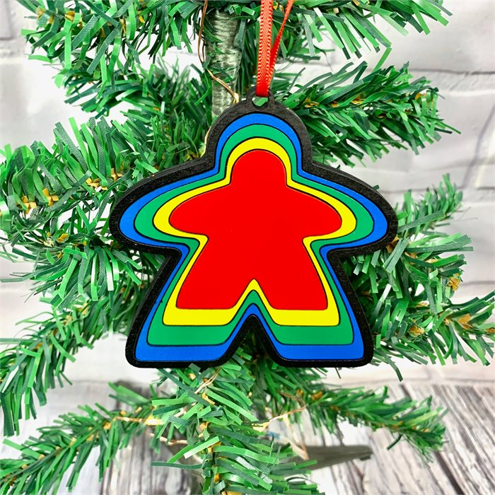 Colorful Meeple Ornament