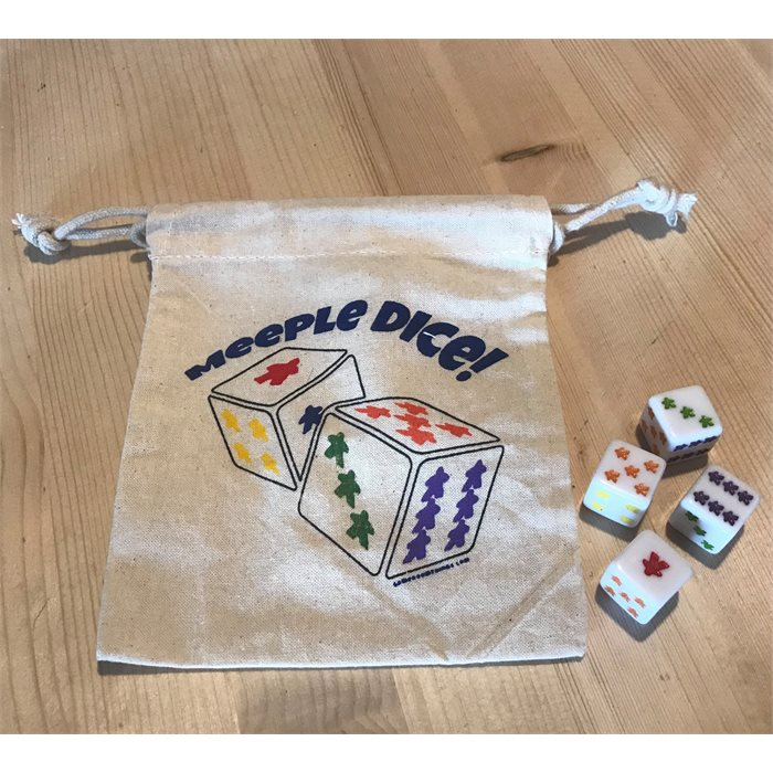 4 - D6 Dice with Dice Bag