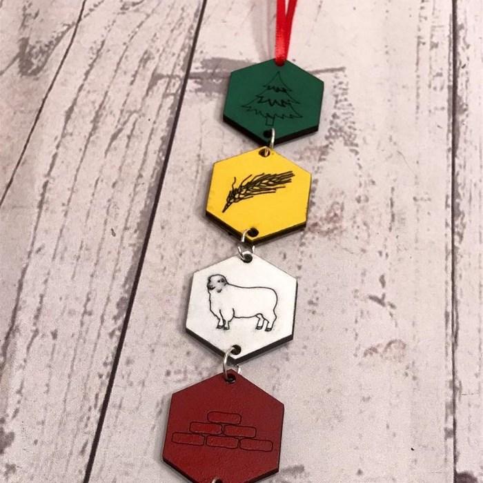 Catan-themed Ornament