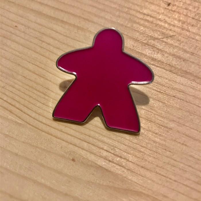 Enamel Meeple Pin - Pink