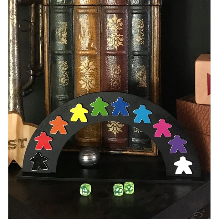 Enamel Meeple 10 Pin Set With Display Stand