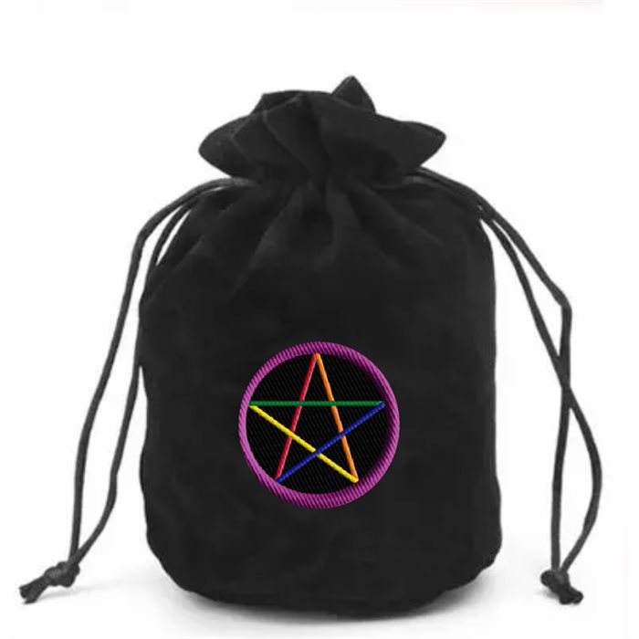 Progressive Pentacle Dice Bag With Patch - Premium