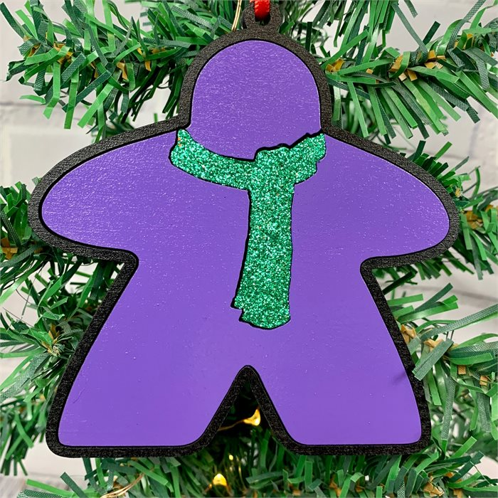 Meeple With Scarf Ornament