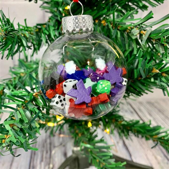 Meeple & Dice Globe Ornament