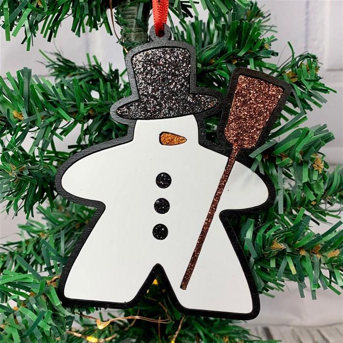 Meeple Snowman Ornament