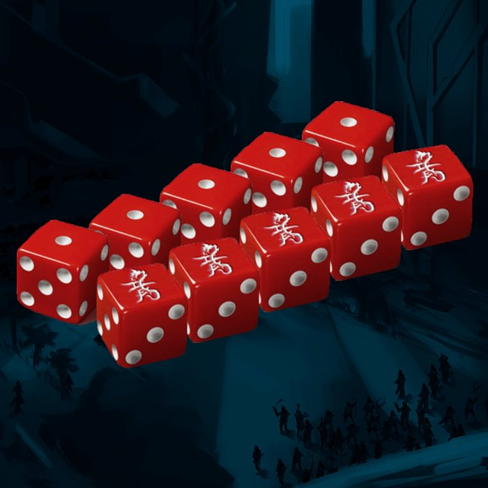 Red Dragons Faction Dice